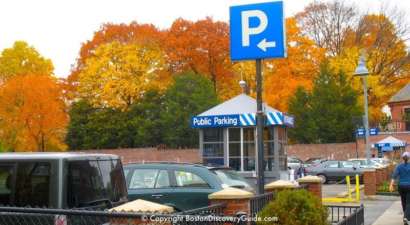Church Street Parking Lot in Harvard Square in Cambridge, near Peabody Museum
