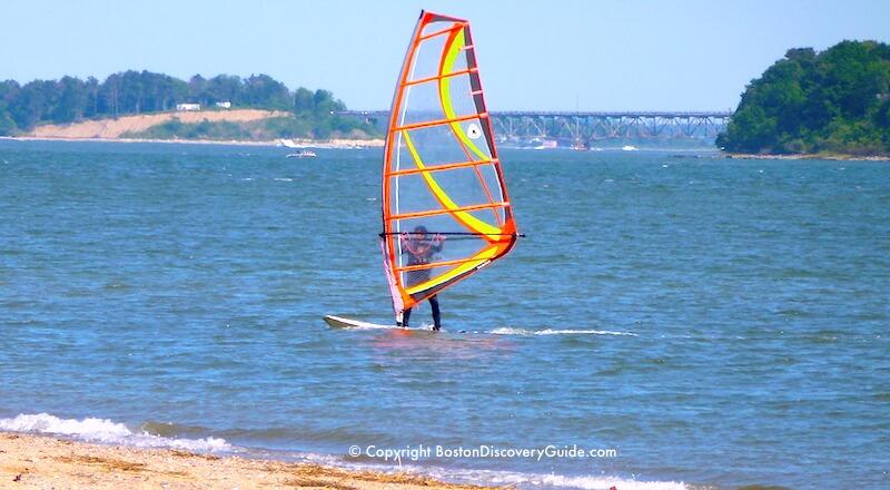 Windsailing at Carson Beach