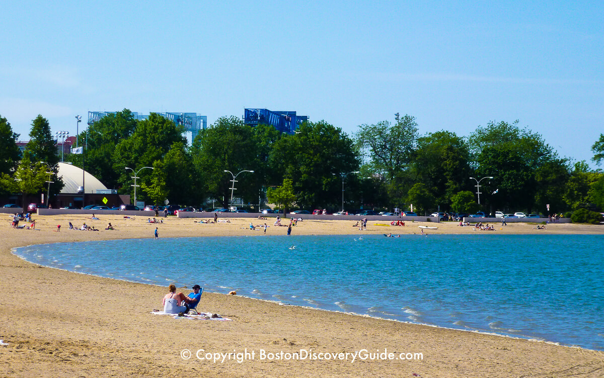 Pleasure Bay Beach near Castle Island in Boston