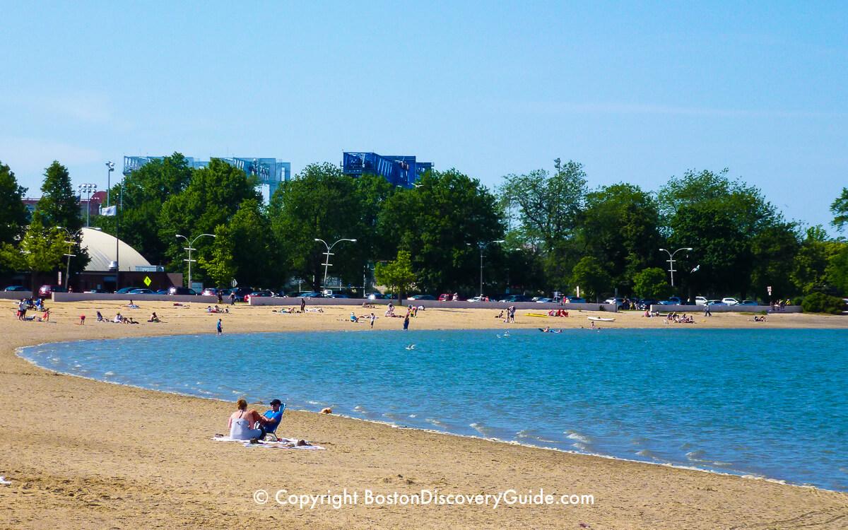 Pleasure Bay Beach near Castle Island in Boston