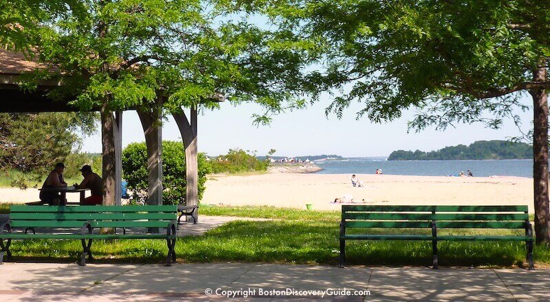 Beach next to Castle Island