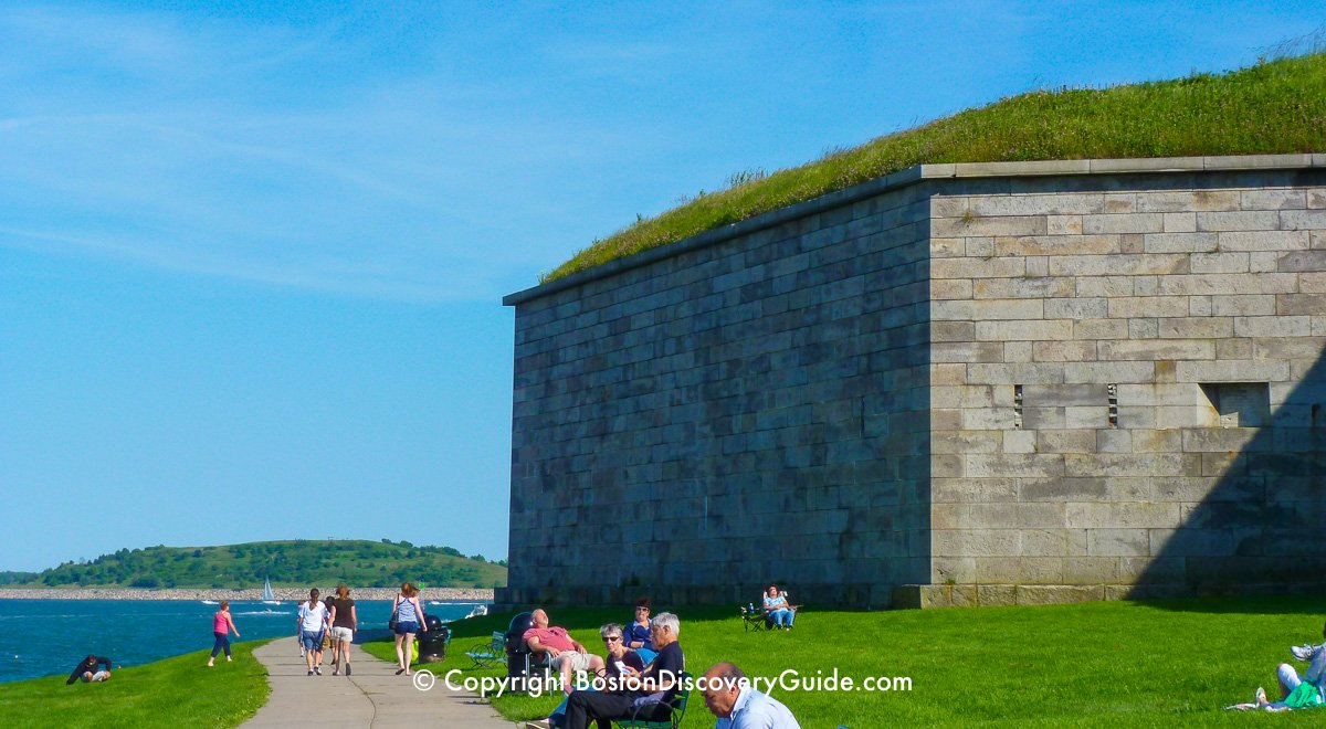 Castle Island's Fort Independence and Pleasure Bay