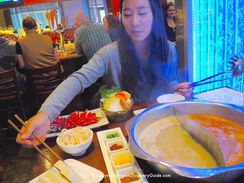 Winter walking tour of Boston: Hotpot at Q Restaurant