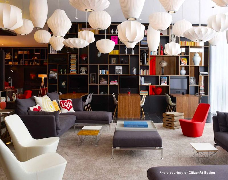 CitizenM Boston lobby