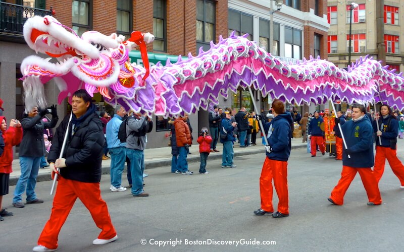 Boston Chinese New Year Parade - Dragon Dance