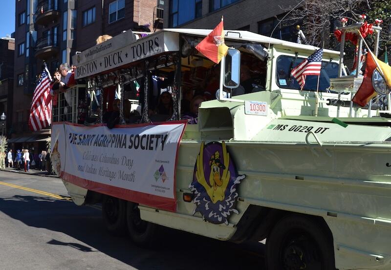 Columbus Day Parade in Boston - St Agrippina Society Float