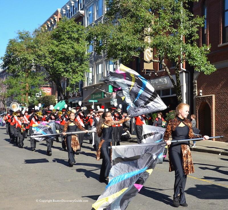 Reading Memorial High School flag twirlers