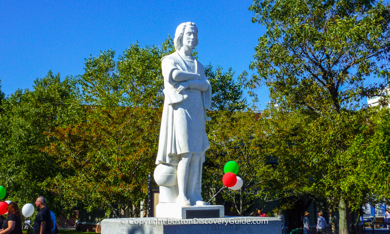 Christopher Columbus statue in Columbus Park