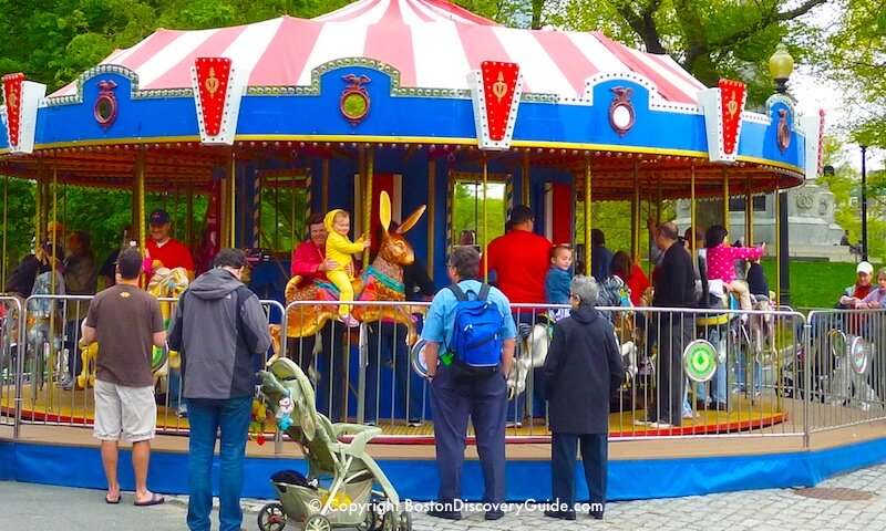 Duckling Day Parade - Carousel on Boston Common after the parade