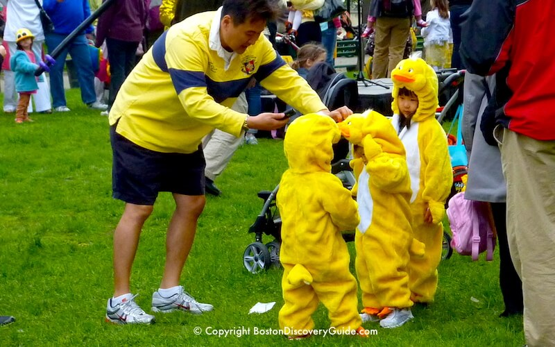 Boston's Duckling Day Parade - annual Mother's Day event