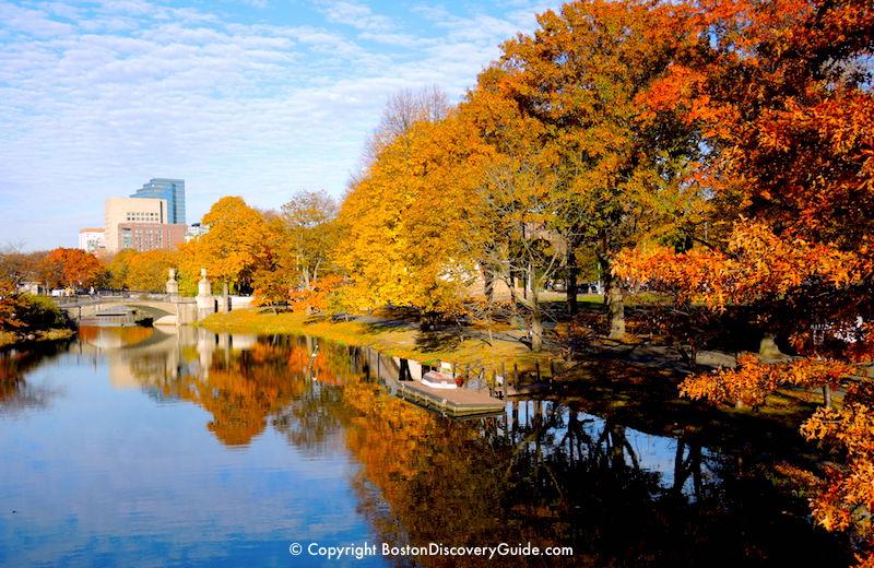 Canals along Boston's Esplanade