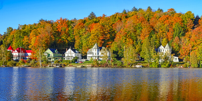 New England coastline in early fall