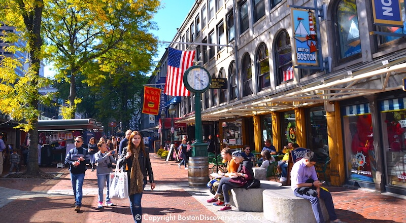 Faneuil Marketplace on the Freedom Trail, top 10 Boston attraction