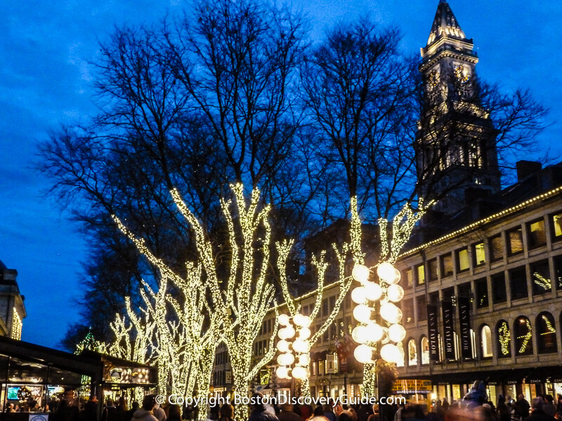 Blink! Holiday lights at Faneuil Hall Marketplace