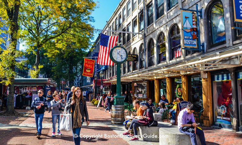 Faneuil Marketplace - Fun shopping and dining in this historic site on Boston's Freedom Trail