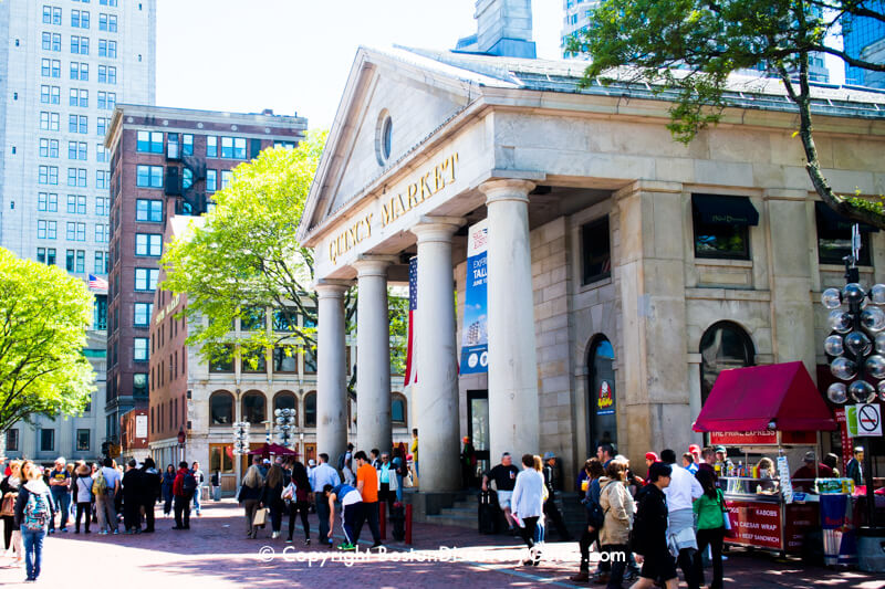 Quincy Market building in Faneuil Marketplace