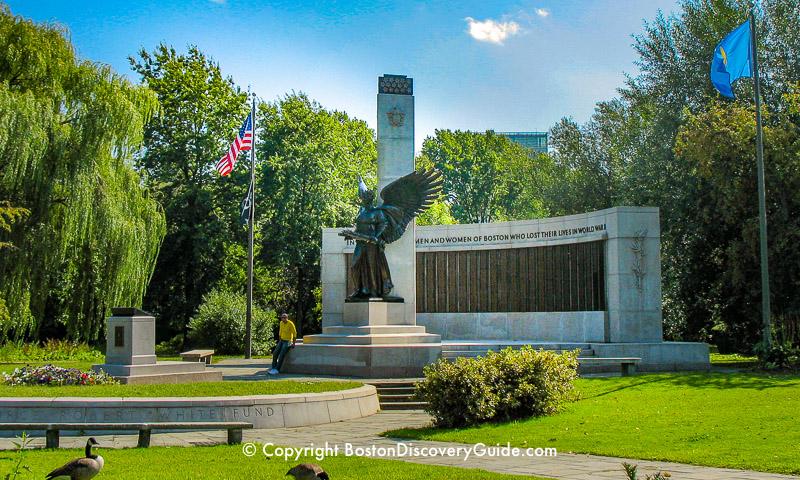 World WarII Memorial in Boston's Fenway neighborhood