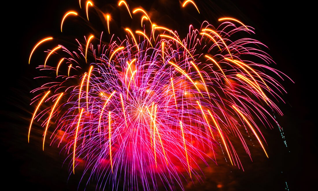Boston Labor Day Events -Fireworks over Boston Harbor