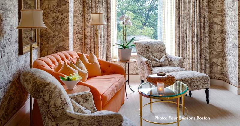 Luxurious suite overlooking Boston Common at the Four Seasons