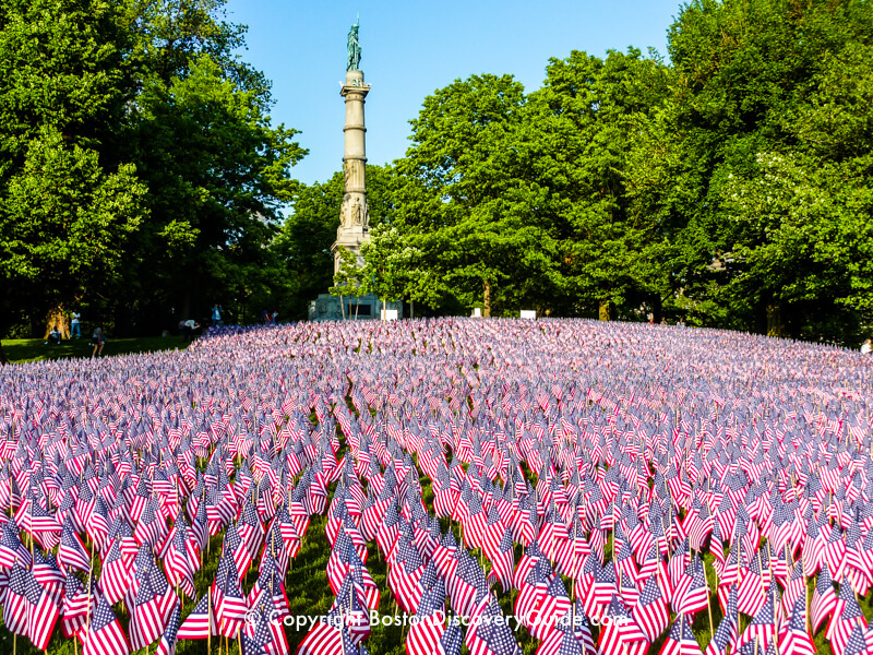 Garden of Flags on Boston Common on Memorial Day Weekend
