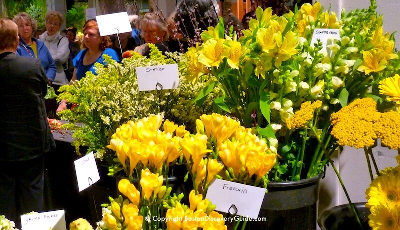 Boston Flower and Garden show - flower arranging demo