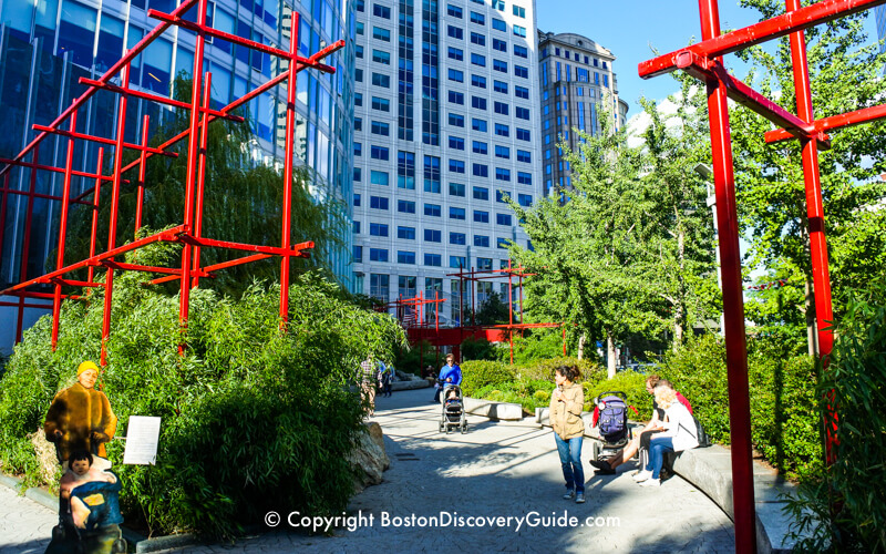 Chinatown Park in Boston's Greenway