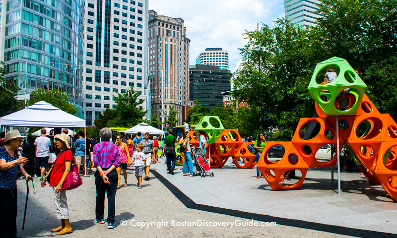 Boston's Greenway attraction:  Playground in the Chinatown Park