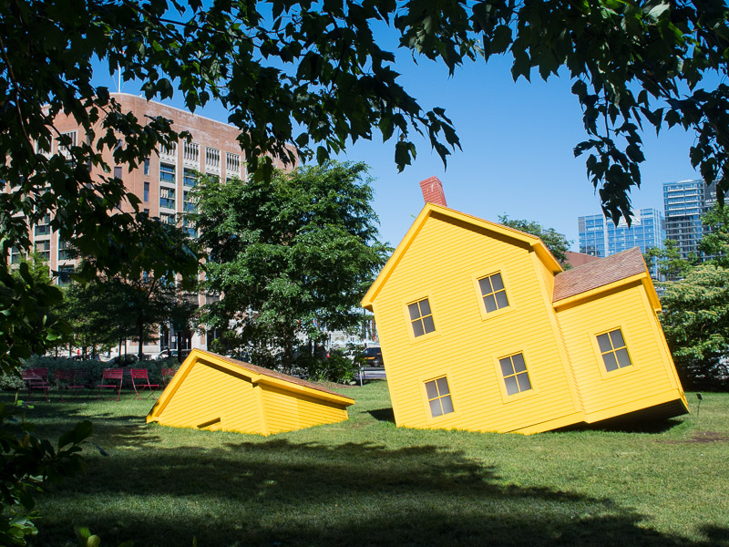 Art installation in the Fort Channel Parks on Boston's Greenway