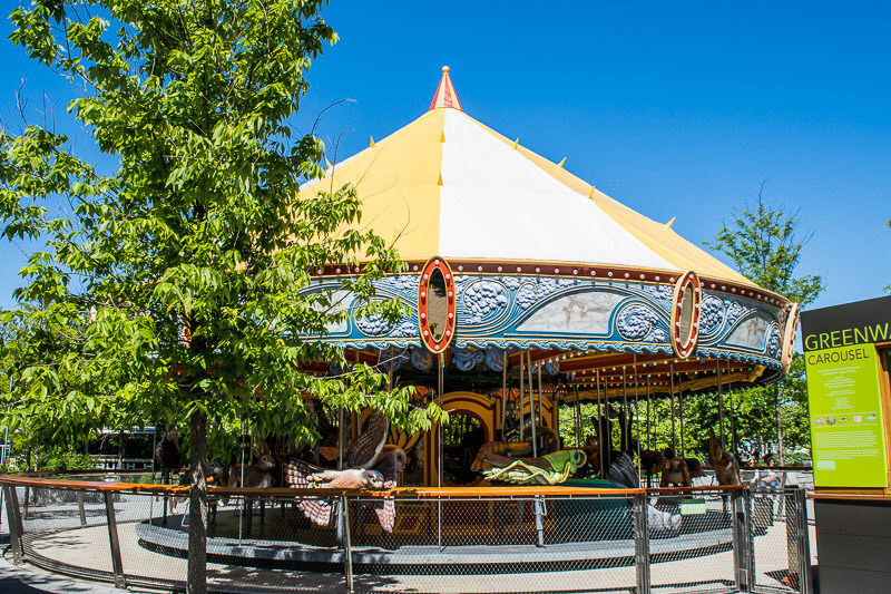 Greenway Carousel on a summer afternoon