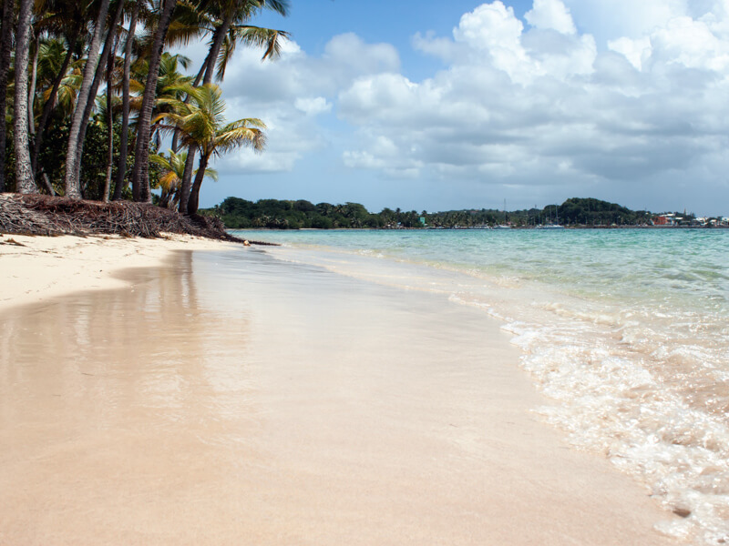 Beach in Guadeloupe, sometimes a stop on the Caribbean cruises from Boston