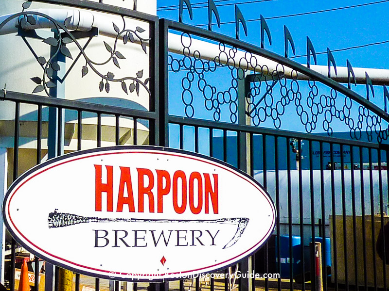 Harpoon Brewery in the South Boston Waterfront neighborhood