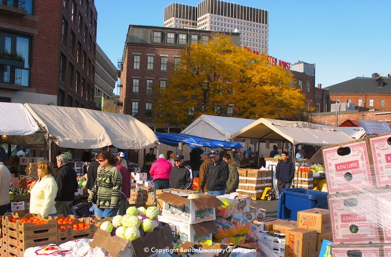 Haymarket on a beautiful fall day