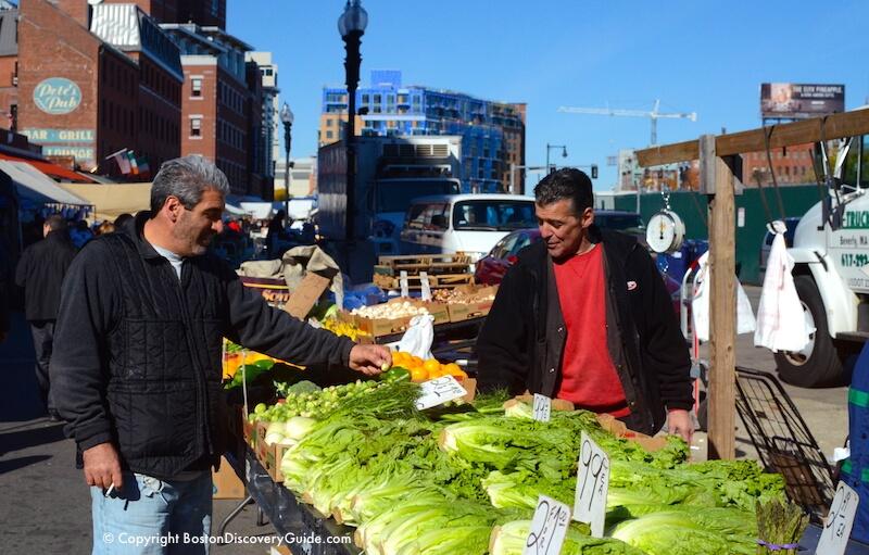 Haymarket vendors fill all available space on Blackstone Street