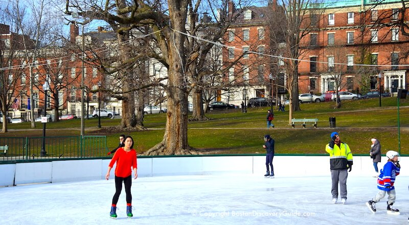 Where to go ice skating in Boston