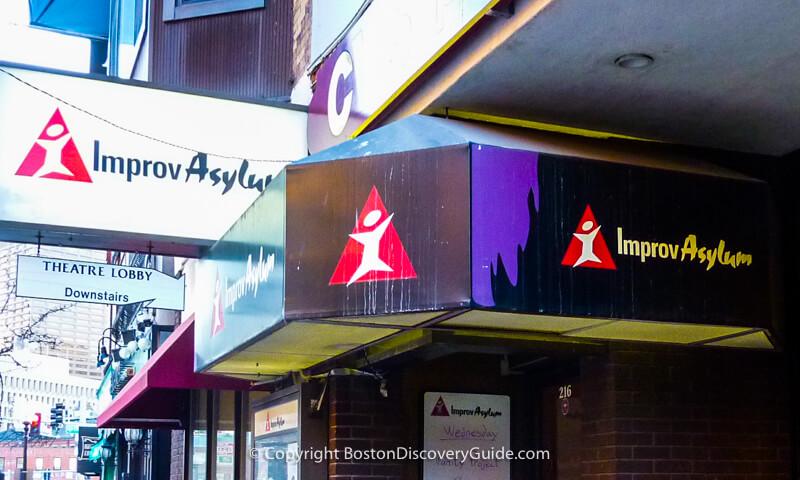 Improv Asylum comedy club in Boston's North End