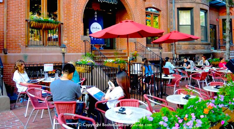 Outdoor Dining In Back Bay Boston Patio Restaurants