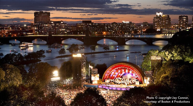 July 4th Boston Pops Concert at the Hatch Shell on the Esplanade