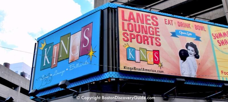 Kings bowling alley in Boston