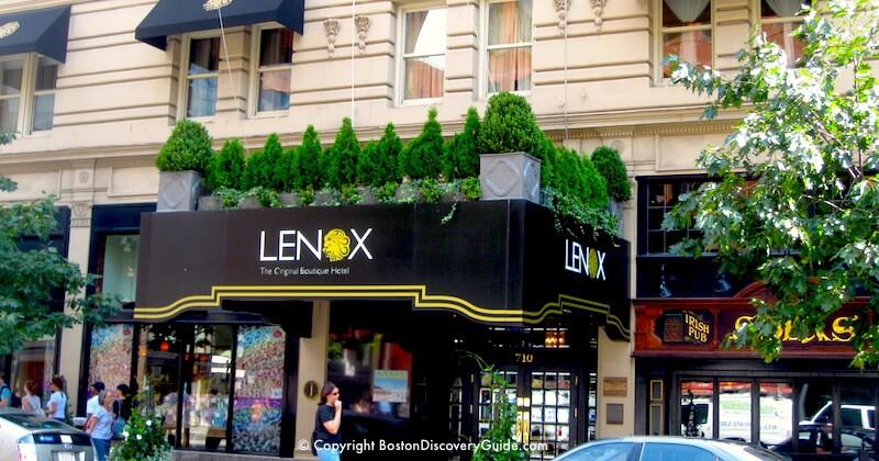Lenox Hotel On Boylston Street Less Than 200 Feet From The Boston Marathon Finish Line