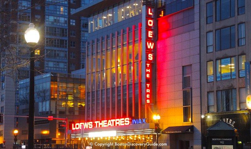 Loews Movie Theatres, located on Park Street across from Boston Common