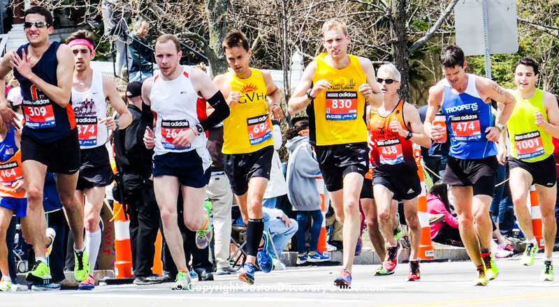 Boston Marathon competitors
