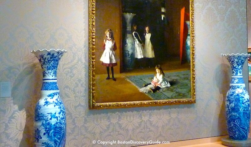 """Daughters of Edward Darley Boit,"" painted by John Singer Sargent in the Museum of Fine Arts"
