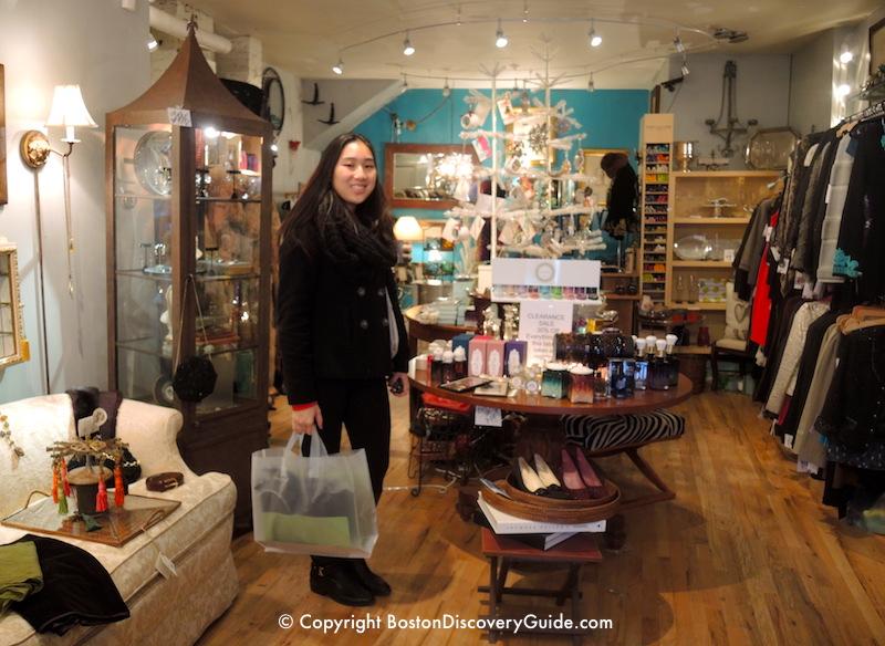 Stocking up on unique items at Ensemble, a North End concept boutique
