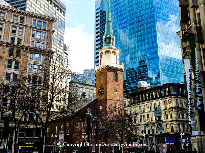 Old South Meeting House viewed from School Street