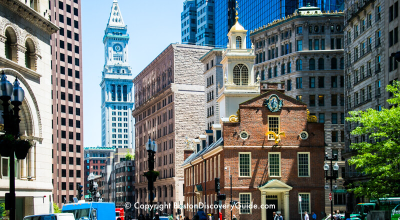 "Boston's Old State House, where Patriots shouted, ""No Taxation without Representation!"""