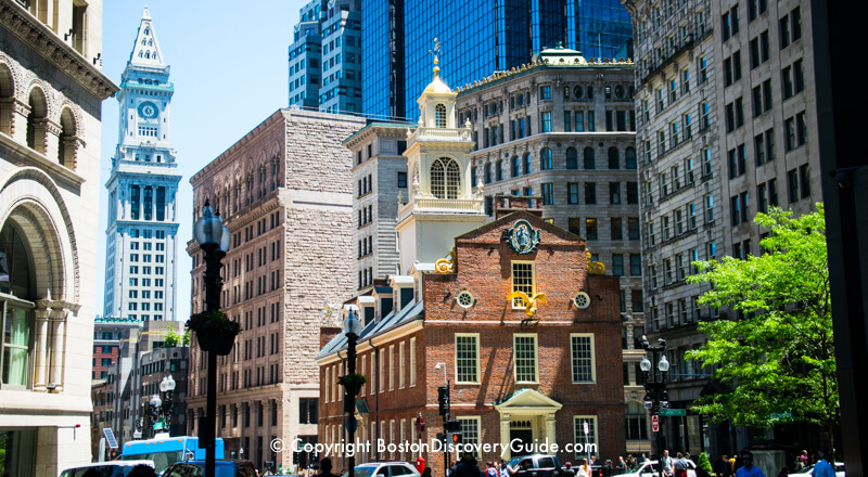Front of Old State House, with Custom House Tower