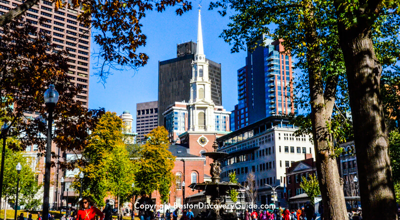 Park Street Church viewed from Boston Common