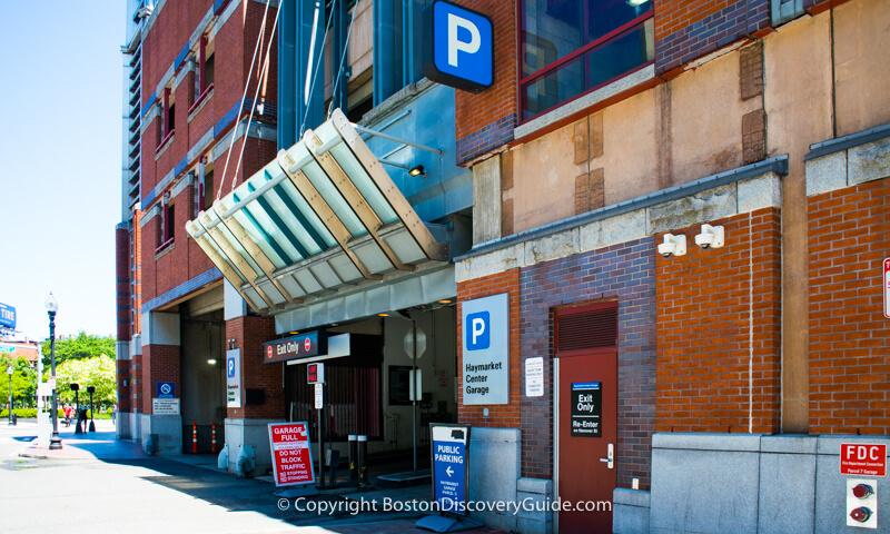 Parking garage kiosk on Boston Common