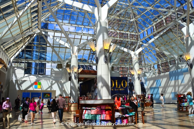 Kiosks in Prudential Center in Boston