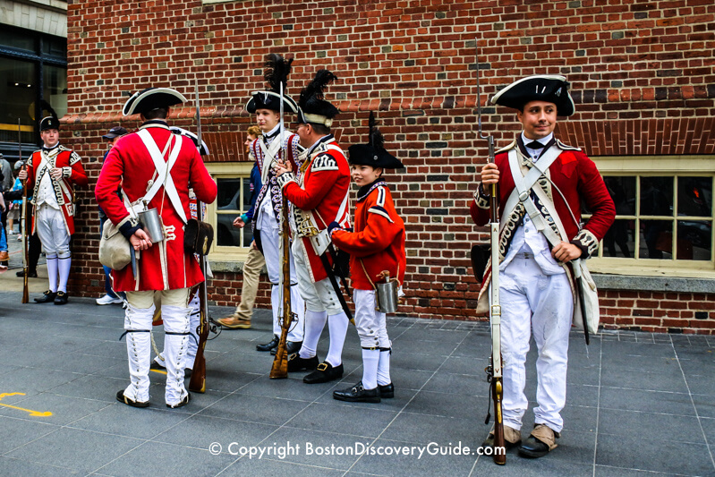 Colonial reenactors during Boston's Harborfest
